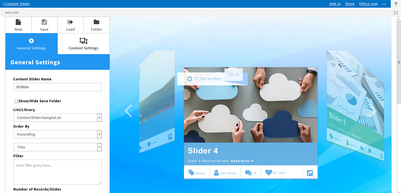 SharePoint Content Slider