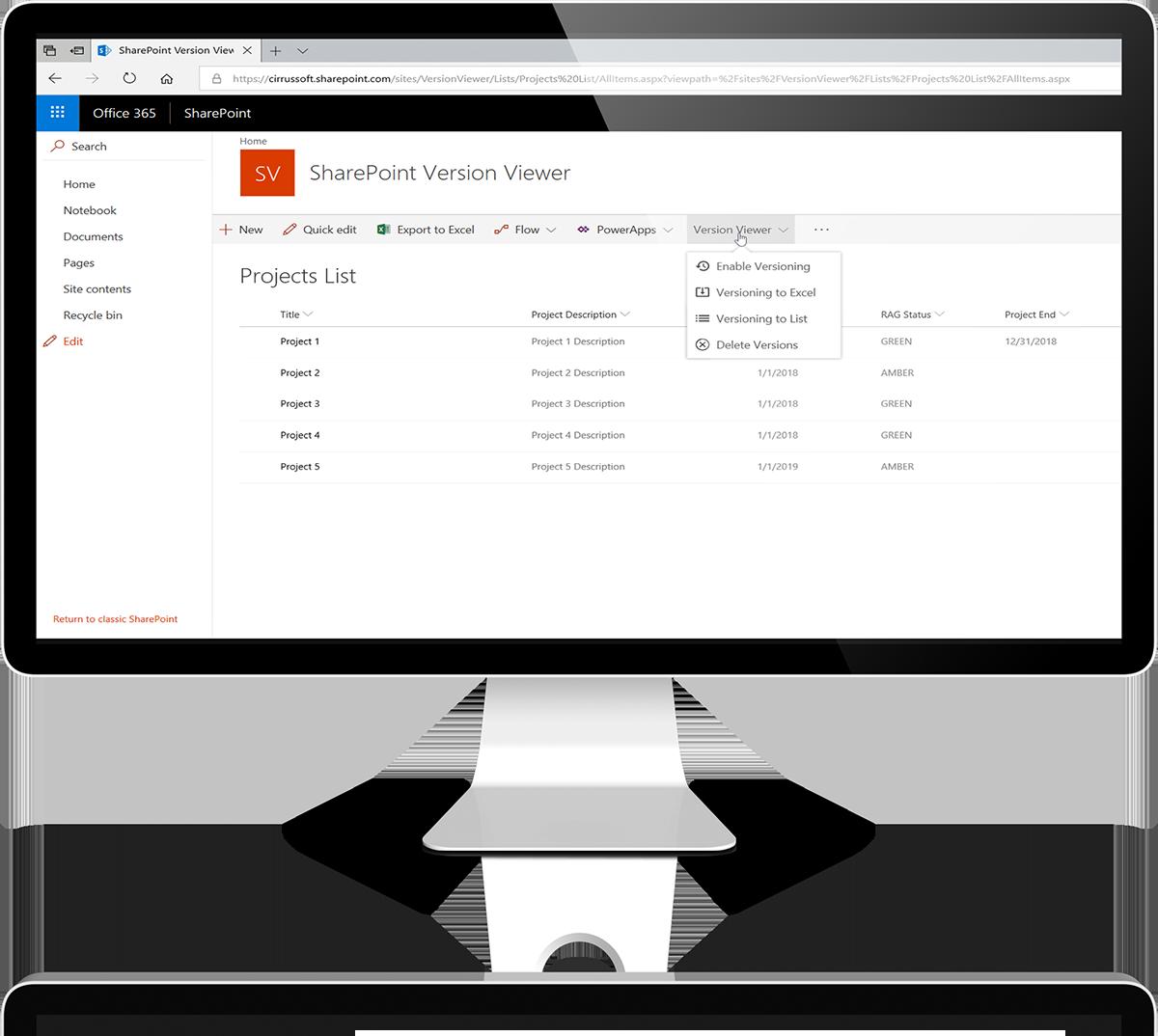 SharePoint Version viewer